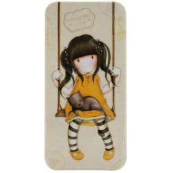 Santoro London Gorjuss Vacation Pencil Tin - Ruby ( Yellow ) 288GJ12 5018997616956