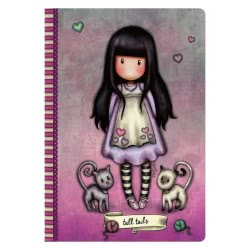 Santoro London Gorjuss Stitched Notebook A5 - Tall Tails 314GJ34 5018997623930