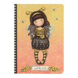 Santoro London Gorjuss Stitched Notebook A5 - Bee-Loved (Just Bee-Cause) 314GJ33 5018997623923