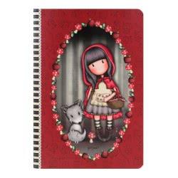 Santoro London Gorjuss Stitched Notebook Σημειωματάριο A5 - Little Red Riding 314GJ31 5018997619698