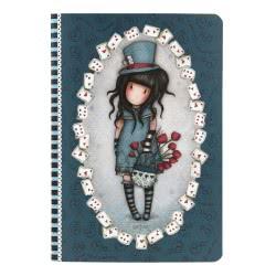 Santoro London Gorjuss A5 Stitched Notebook Σημειωματάριο A5 - The Hatter 314GJ32 5018997619704