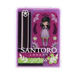 Santoro London Gorjuss Fiesta Mini Eraser Σετ 4 Σβήστρες - You Brought Me Love 920GJ04 5018997625279