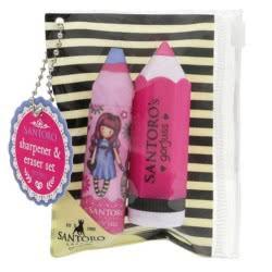 Santoro London Gorjuss Fiesta Pencil Shaped Sharpener And Eraser Set - My Gift To You 813GJ03 5018997625132