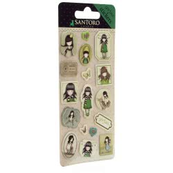 Santoro London Gorjuss Sticker Pack Αυτοκόλλητα Παιδικά - The Scarf ( Πράσινο ) 680GJD01 / 680GJ04 5018997617915