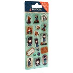 Santoro London Gorjuss Sticker Pack Αυτοκόλλητα Παιδικά - You Brought Me Love ( Μπλε ) 680GJD01 / 680GJ03 5018997617908
