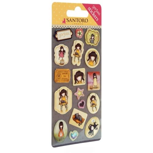 Santoro London Gorjuss Sticker Pack Αυτοκόλλητα Παιδικά - Ruby ( Κίτρινο ) 680GJD01 / 680GJ01 5018997617885