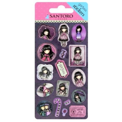 Santoro London Gorjuss Sticker Pack Αυτοκόλλητα Παιδικά - Sugar And Spice ( Μωβ ) 680GJD01 / 680GJ02 5018997617892