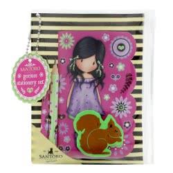 Santoro London Gorjuss Fiesta Mini Stationery Set - You Brought Me Love 921GJD01 / 921GJ02 5018997625477
