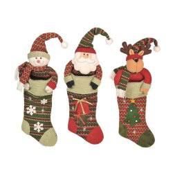 Christakopoulos Χριστουγεννιάτικη Κάλτσα Φιγούρα 64Εκ 3 Σχέδια 5596 231670055964