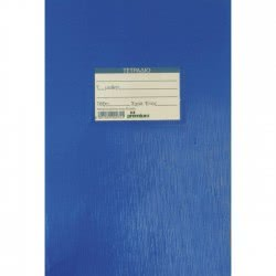 A&G PAPER Premium School Pin Bound Notebook 50 Sheets - Blue 26275 5205616262759