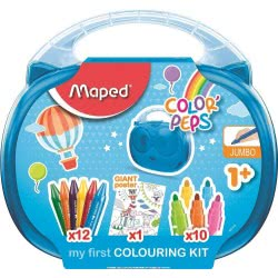 Maped Color Peps My First Colouring Kit Βαλιτσάκι Κουκουβάγια Γεμάτο - 2 Χρώματα 897416 3154148974161