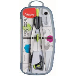 Maped Precision System Compass Case With 3 Pieces - 3 Colours 291010 3154142910103
