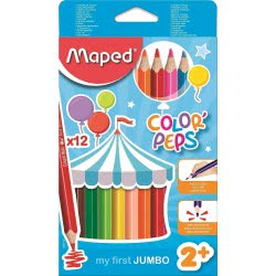 Maped Color Peps My First Jumbo Colouring Pencils 12 Pieces 834010 3154148340102