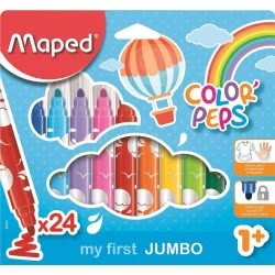 Maped Color Peps My First Jumbo Μαρκαδόροι 24 Τεμάχια 846222 3154148462224