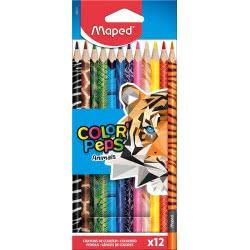 Maped Color Peps Coloured Pencils Ξυλομπογιές Άγρια Ζώα 12 Τεμαχίων 832212 3154148322122
