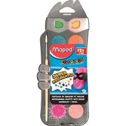 Maped Color Peps Watercolour Paint Palette 30Mm 12 Colours 811520 3154148115205