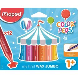 Maped Color Peps My First Wax Jumbo Κηρομπογιές 12 Τεμαχίων 861311 3154148613114
