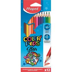Maped Color Peps Coloured Pencils Ξυλομπογιές 12 Τεμαχίων 183212 3154141832123