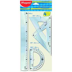 Maped Cristal Big Geometry Set 4 Pieces 242830 3154142428301