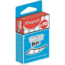 Maped White Peps White Chalks Κιμωλίες Λευκές Κουτί 10 Τεμαχίων 593500 3154145935004