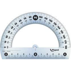 Maped Essential Cristal Protractor 12 Cm 146134 3154141461347