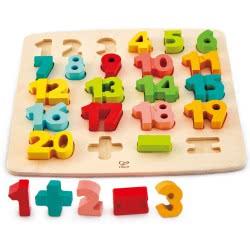 Hape Happy Puzzles Chunky Number Math Puzzle Ξύλινο Παζλ Αριθμοί E1550 6943478018709