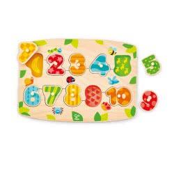Hape Happy Puzzles Peg Ξύλινο Παζλ Νούμερα E1404 6943478018884