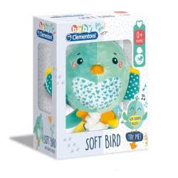 Clementoni baby Soft Bird Βρεφικό Μουσικό Χνουδωτό Κρεμαστό Πουλάκι 1000-17269 8005125172696