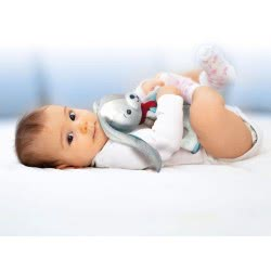 Clementoni baby Sweet Bunny Βρεφικό Μαλακό Χνουδωτό Λαγουδάκι 1000-17272 8005125172726