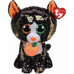 ty Flippables Jinx The Cat Sequin Plush - Black 1607-36784 008421367849