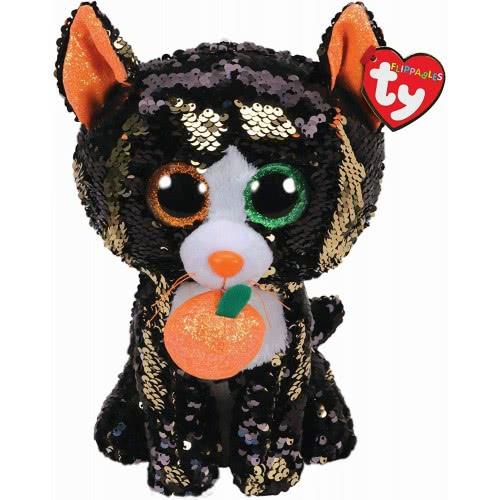 ty Flippables Jinx The Cat Sequin Χνουδωτό Γάτα - Μαύρη 1607-36784 008421367849