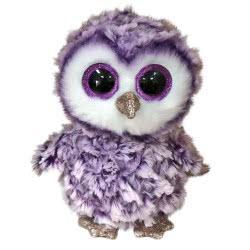 ty Moonlight Purple Owl Plush 23Cm 1607-36461 008421364619