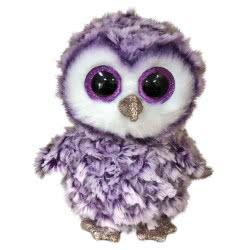 ty Moonlight Purple Owl Plush 15Cm 1607-36325 008421363254