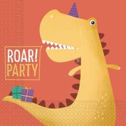 PROCOS Dinosaur Roar Party Three-Ply Paper Napkins 33X33cm - 20 Pieces 090248 5201184902486
