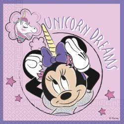 PROCOS Disney Minnie Unicorn Dreams Three-Ply Paper Napkins 33X33cm - 20 Pieces 090992 5201184909928