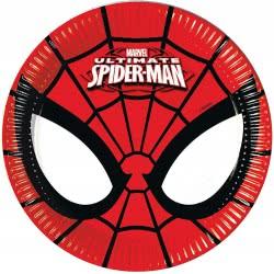 PROCOS Marvel Ultimate Spiderman Χάρτινα Πιάτα Μεσαία 20 Εκ - 8 Τεμαχίων 086669 5201184866696