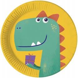 PROCOS Dinosaur Roar Party Paper Plates 23 Cm - 8 Pieces 090610 5201184906101