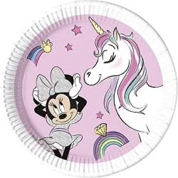 PROCOS Disney Minnie Unicorn Dreams Paper Plates 23 Cm - 8 Pack 090813 5201184908136