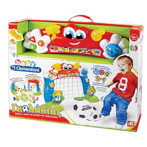 Clementoni baby Baby Clementoni βρεφικό παιχνίδι Γκολάκιας, νέα έκδοση(μιλάει ελληνικά) 1000-63302 8005125633029