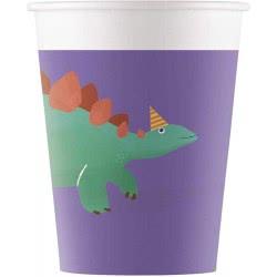 PROCOS Dinosaur Roar Party Paper Cups 200Ml - 8 Pieces 090611 5201184906118