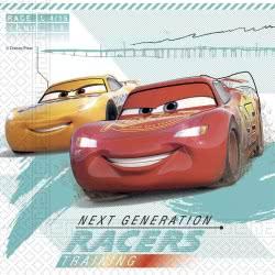 PROCOS Disney Cars High Speed Three-Ply Paper Napkins 33X33cm - 20 Pieces 090990 5201184909904