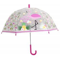 chanos Pink Flamingo Style Kids Umbrella 48Cm 9427 5203199094279