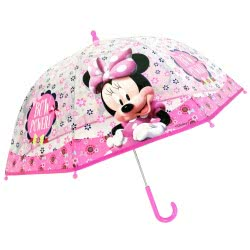 chanos Minnie Mouse Bow Power Kids Umbrella 45Cm 3629 5203199036293