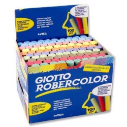Giotto Robercolor Κιμωλίες Πλαστικές Χρωματιστές 100 Τεμαχίων 000059256 8000825967559