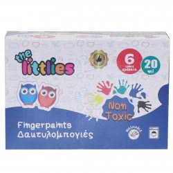 LUNA OFFICE The Littlies Fingerpaints 20Ml 6 Colors 646124 5205698455735