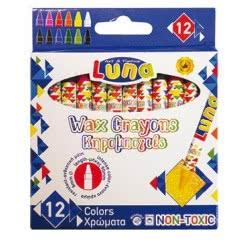 LUNA OFFICE Wax Crayons Κηρομπογιές 12 Χρωμάτων 000620158 5205698102301