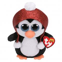 ty Gale Χνουδωτό Χριστουγέννων Πιγκουίνος Με Κόκκινο Σκούφο 15 Εκ. 1607-36681 008421366811