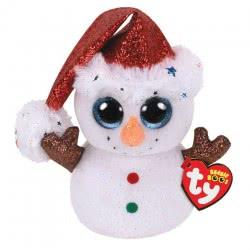 ty Flurry Χνούδωτο Χιονάνθρωπος Με Κόκκινο Σκούφο Χριστουγέννων 15 Εκ. 1607-36682 008421366828