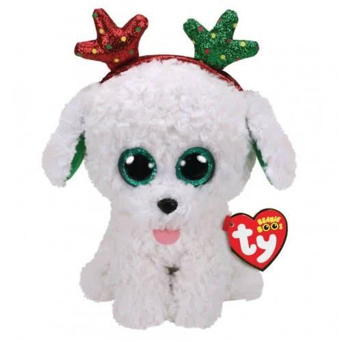 ty Sugar Χνουδωτό Σκυλάκι Με Κέρατα Χριστουγέννων 15 Εκ. 1607-36683 008421366835