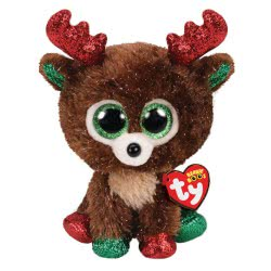 ty Fudge Χνουδωτό Τάρανδος Χριστουγέννων 15 Εκ. 1607-36684 008421366842